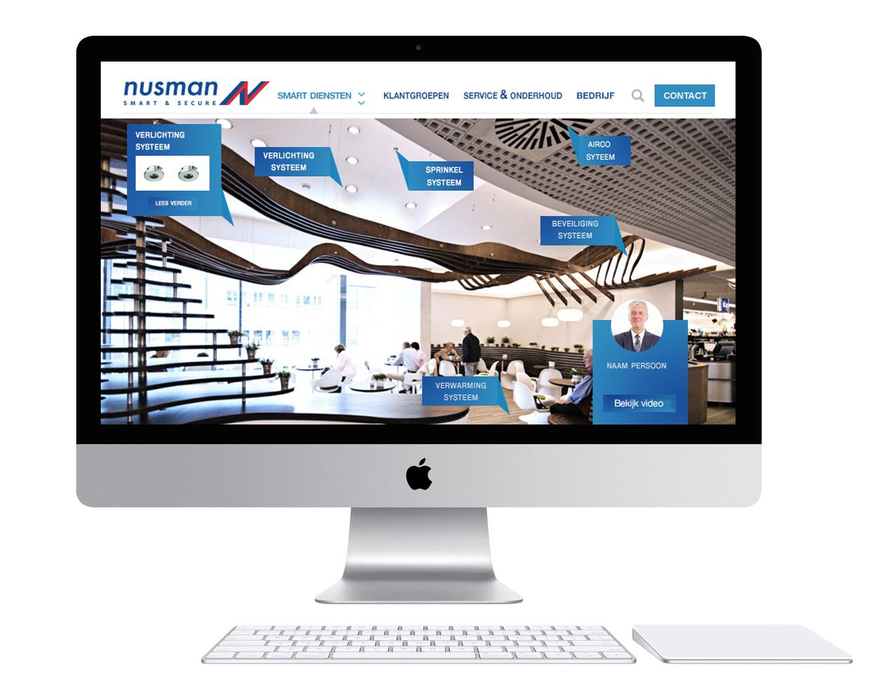 Smart&nusman Installatietechniek <br> ontwikkelen omvangrijke <br> nieuwe website.